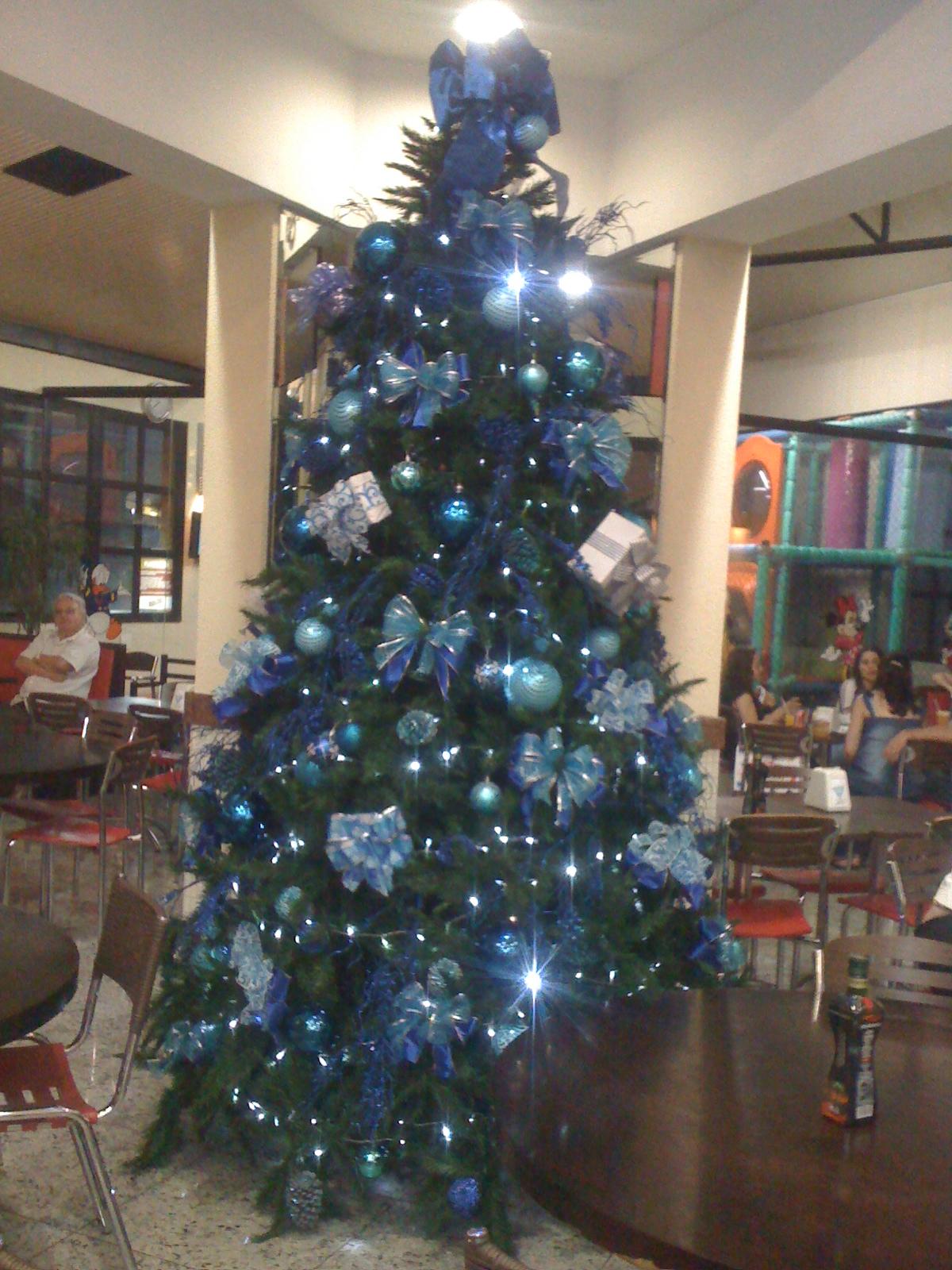 decoracao de arvore de natal azul e dourado : decoracao de arvore de natal azul e dourado:arranjo natalino Archives